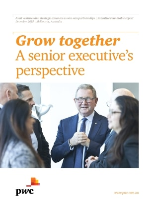 Grow together: A senior executive's perspective cover