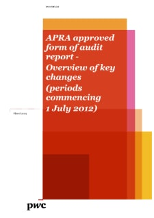 APRA approved form of audit report